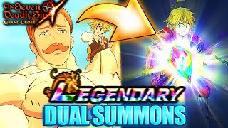 THE BEST ESCANOR ANIMATION IN GRAND CROSS HISTORY?! DUAL SUMMONS! | Seven Deadly Sins: Grand Cross