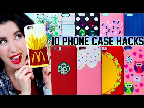 10 DIY Phone Case Life Hacks! | Clever Ways To Spice Up Your Plain iPhone Case!