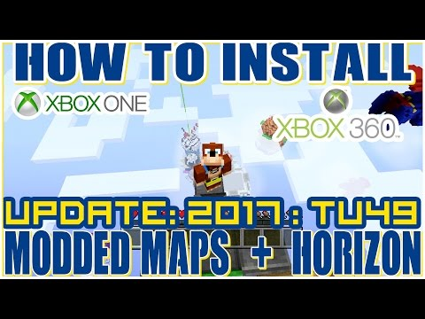How to Download Custom Modded Minecraft Maps : Xbox 360 + One  : TU49 2017