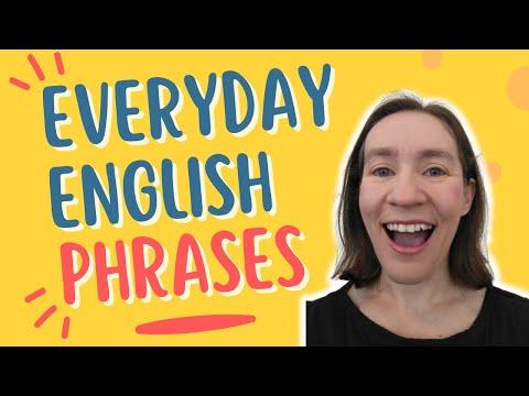 Everyday English Phrases (Part 1)