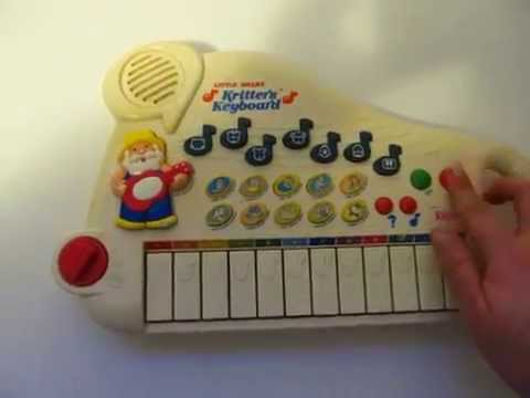 Vintage Vtech Little Smart Kritter's Keyboard Toy Piano Animals Old McDonald