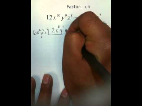 Moya Math Algebra 2 (Factoring Using GCF)