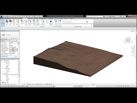 BIM - Revit Site Design 01 Creating Topography l Contour l Terrain using Toposurface. Tutorial