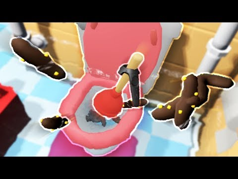 VR IS DISGUSTING!! THERE'S POO EVERYWHERE!?!! (Pipejob VR HTC Vive)