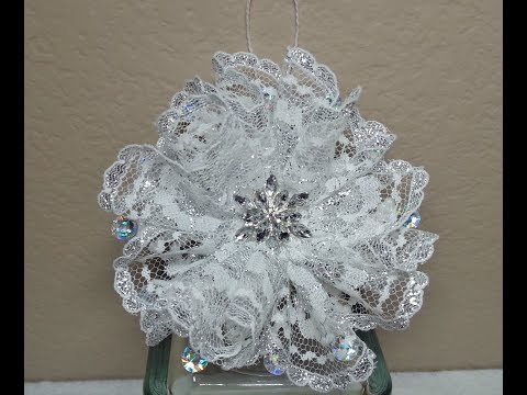 DIY~ Make A Gorgeous And EASY Lace Snowflake Ornament!