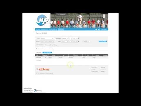 Shiftboard Training Video  EN