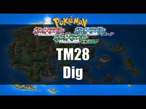 Pokemon Ruby/Sapphire/Emerald - Where to find TM28 Dig