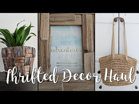 Goodwill Home Decor Thrift Haul Reveal-Farmhouse & Boho Inspired finds!
