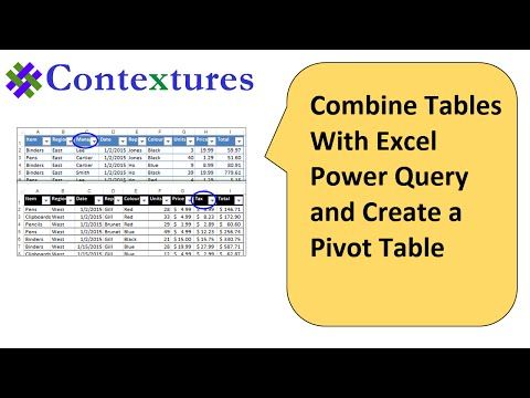 Combine Tables With Excel Power Query and Create Pivot Table