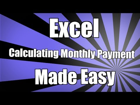 How To Calculate a monthly payment in Excel 2010 - Monthly Payment Formula in Excel 2010 2013 2016