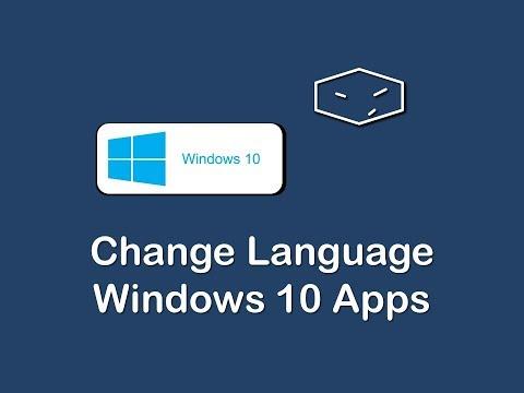 windows 10 change language of windows 10 apps