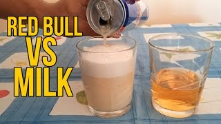 What Will Happen If You Mix Milk and Red Bull?