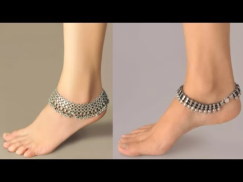 Trendy Silver Anklet Designs For Indian Ethnic Wear