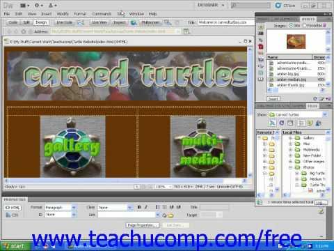 Dreamweaver CS5 Tutorial Changing Links Site Wide Adobe Training Lesson 12.2