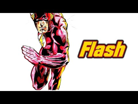 Draw The Flash - Speed Drawing