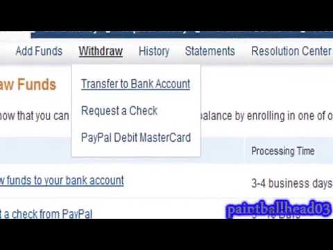 How to withdraw money from paypal