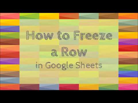 How to Freeze a Row in Google Sheets