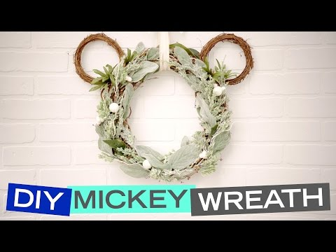 Mickey Mouse Wreath & Pandora   Be Our Guest   Disney Style