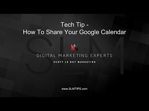 Tech Tip - How To Share Your Google Calendar