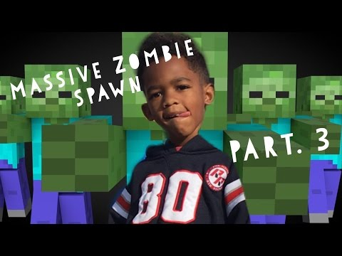5 Year Old Massive Zombie Spawn Egg Pt.3 iPhone/iPad - HD Gameplay Minecraft