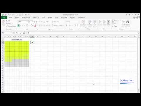 Create a Percentage Chart in Excel using Conditional Formatting