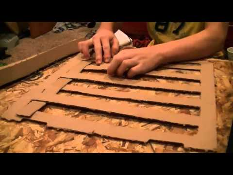 How to Make a Cardboard Mat for a Rabbit