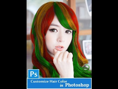 How to Customize Hair Color in Photoshop  [ TUTORIAL ]