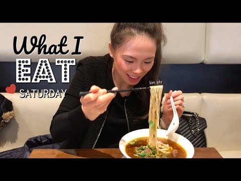 WHAT I EAT IN A DAY | SUNDAY | breakfast, lunch, dinner + dessert