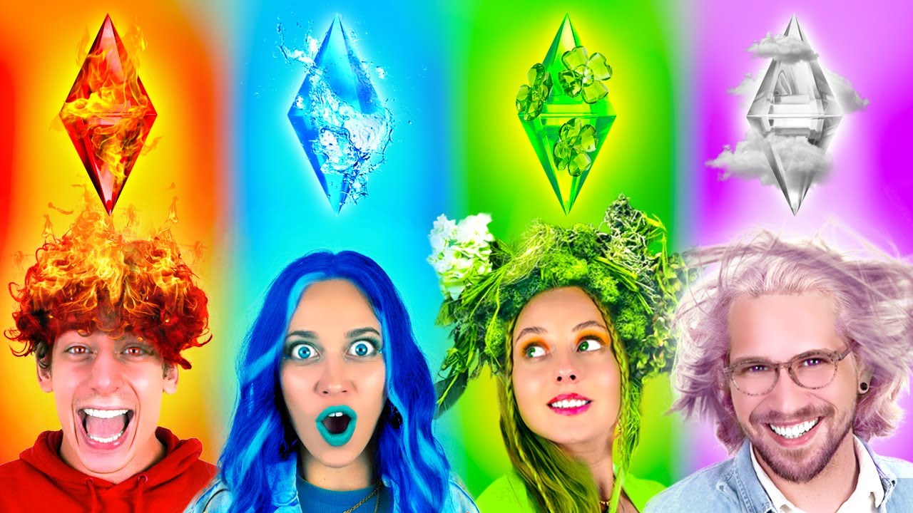 Four Elements Magic PRANKS in College | Fire, Water, Earth and Air  – by La La Life Games