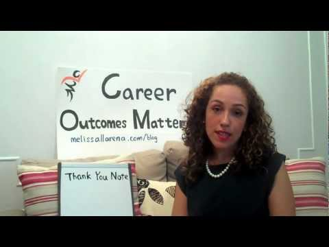 Interview Tips: What to Write in a Post-Interview Thank You Note.MP4