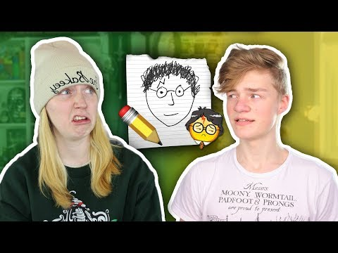 HARRY POTTER DRAWING CHALLENGE! ft. TheBakeey