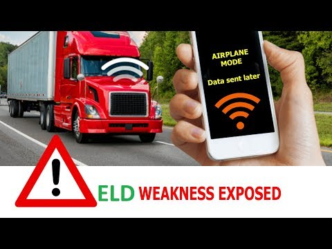 ELD electronic logbook FLAW that hackers may use to change the device data