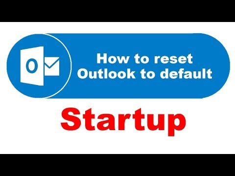 How to reset Outlook 2016 to default