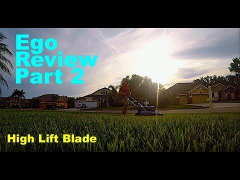 Ego Mower Review 2 | High Lift Blade Better Cut?