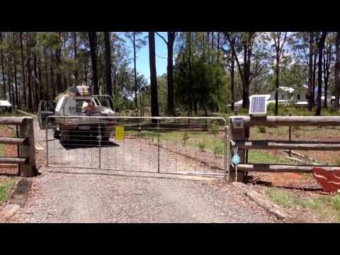 Solar Gate Opener | Swing Gates Toowoomba Darling Downs | Driveway Gates | DIY Installation