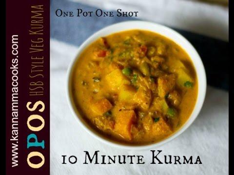 10 minute easy veg kurma