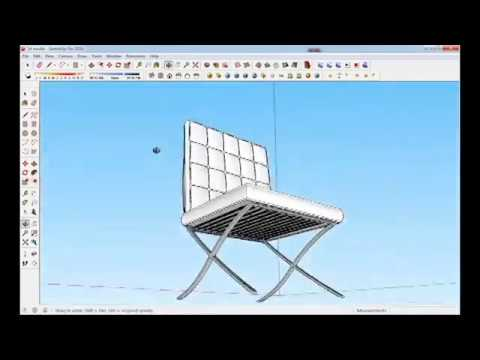 SKETCHUP-Barcelona Chair (speed modeling)