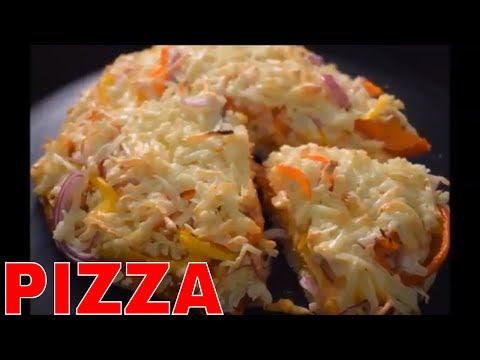 pizza recipe in microwave oven with readymade pizza base indian style   hindi  microwave oven