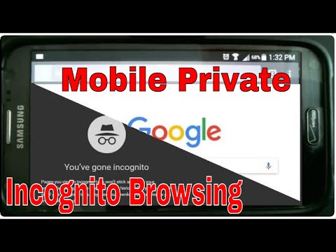 How To Do Private or Incognito Browsing from Mobile Phone Smartphone iPhone or Droid Chrome Explorer