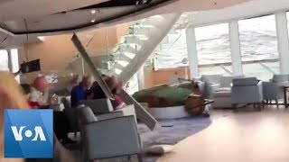 Download Passengers Wait on Cruise Ship in Rough Weather off Norway Video