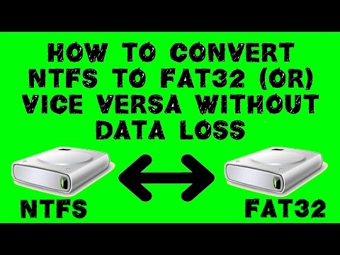 How to convert NTFS to FAT32 or FAT32 to NTFS without data loss uisng AOMEI partition Assistant
