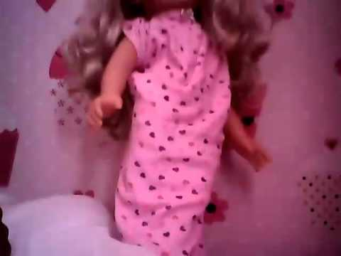 How to make doll nightgown