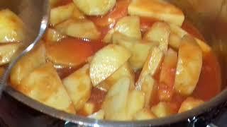 بطاطس مطبوخه على طريقتى من(مطبخ  أم ياسين )👌
