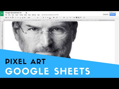 Create Paintings with Google Spreadsheets