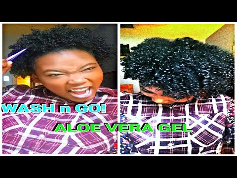 get your BEST WASH and GO on COILY hair using ALOE VERA GEL!