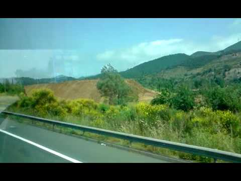 Highway from Barcelona to Girona Airport