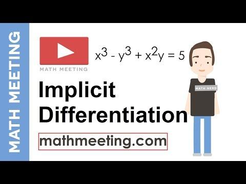Implicit Differentiation - Calculus Derivatives Tutorial
