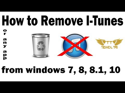Uninstall itunes from windows 7, 8, 8.1, 10 in few steps
