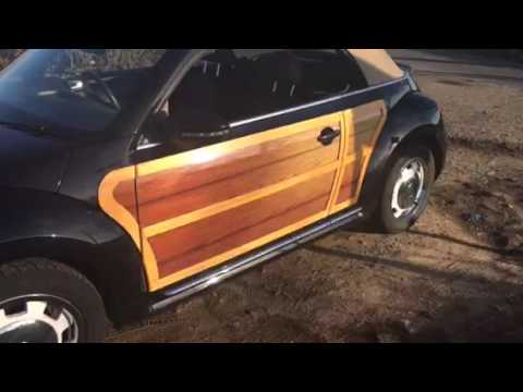VW Beetle Woodie Wrap and real Wood