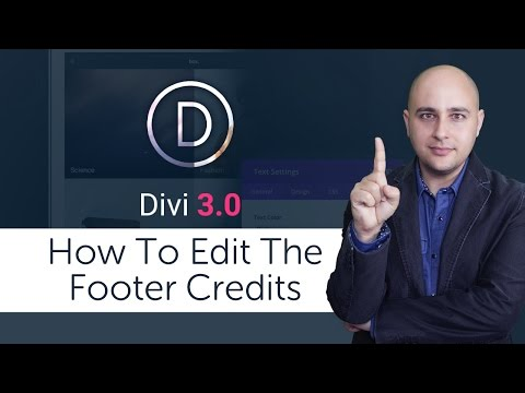 How To Change The Footer Copyright In The Divi WordPress Theme